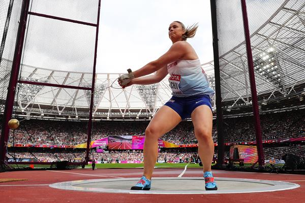 Sophie Hitchon in the hammer at the IAAF World Championships London 2017 (Getty Images)