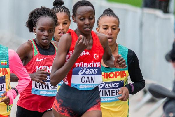Yasemin Can in action at the World Athletics Half Marathon Championships Gdynia 2020 (AFP / Getty Images)