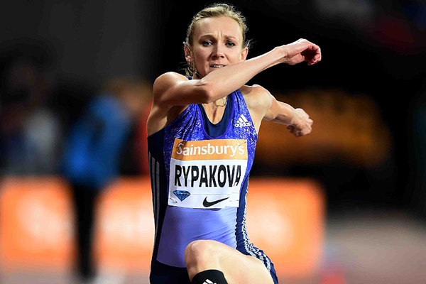 Olga Rypakova in the triple jump at the IAAF Diamond League meeting in London (Jean-Pierre Durand)