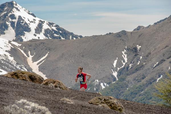 Cristina Simion en route to the long course title at the 2019 World Mountain Running Championships in Villa La Angostura (Organisers)