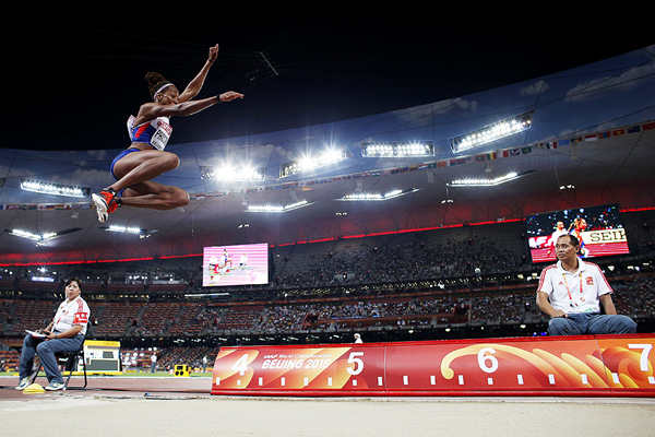 Shara Proctor in the long jump at the IAAF World Championships Beijing 2015 (AFP / Getty Images)