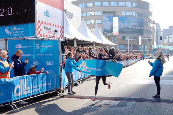 Stephen Chebogut wins the Eindhoven Marathon (Organisers)