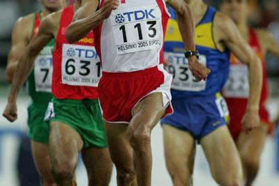 Rashid Ramzi of Bahrain sprints to the finish in the 1500m final (Getty Images)