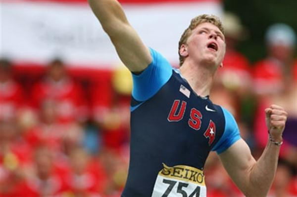 Ryan Crouser of USA on his way to winning the Shot Put final (Getty Images)