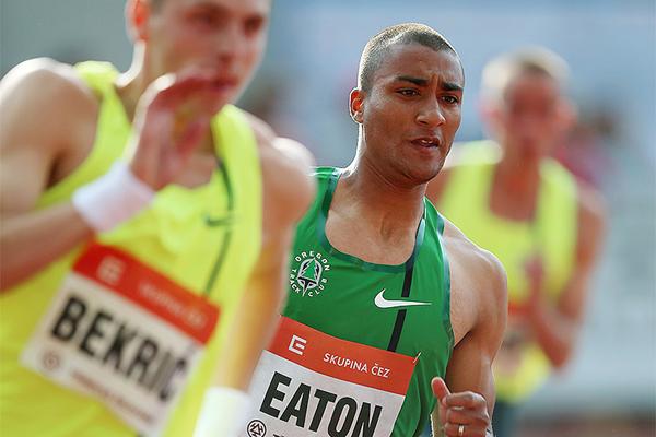USA's Ashton Eaton in action in Ostrava (Organisers / sport-pics.cz)