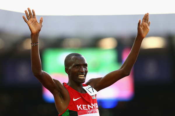 Kenya's Josphat Bett after the 10,000m (Getty Images)