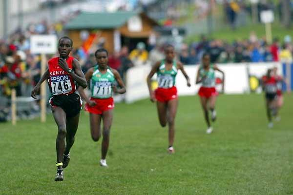 Edith Masai romps home in the women's short race (Getty Images)