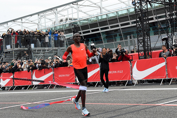 Eliud Kipchoge in action in Monza (Getty Images)
