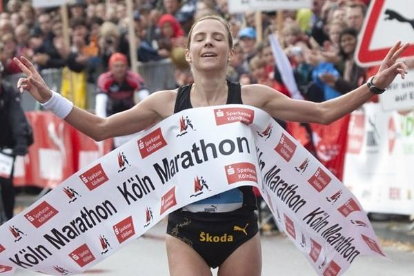 Sabrina Mockenhaupt takes her second Cologne Marathon victory (organisers)