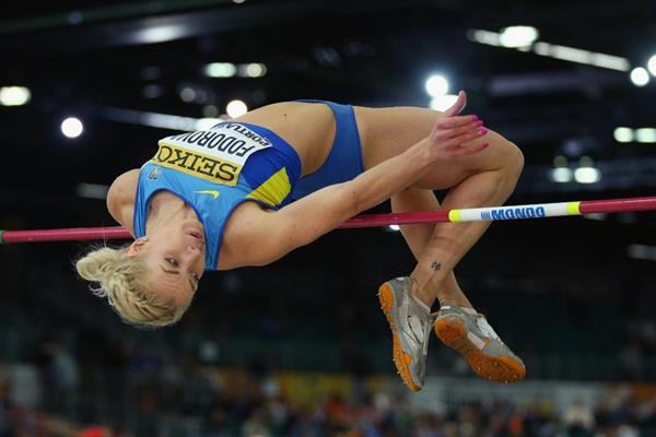Alina Fodorova in the pentathlon high jump at the IAAF World Indoor Championships Portland 2016 (Getty Images)