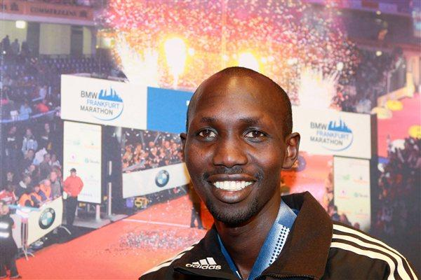Wilson Kipsang on the eve of his Franfurt Marathon title defence (Victah Sailer)