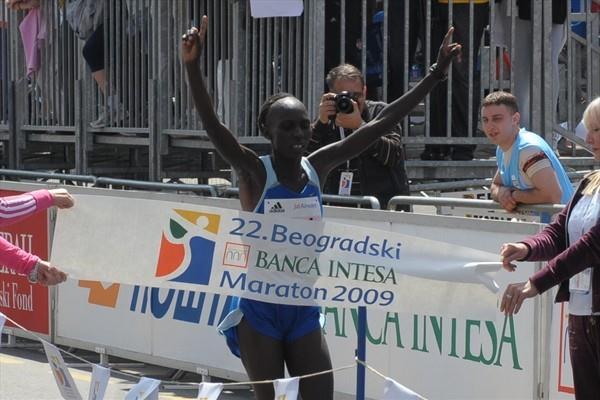 Anne Kosgei wins in Belgrade (Belgrade marathon organisers)