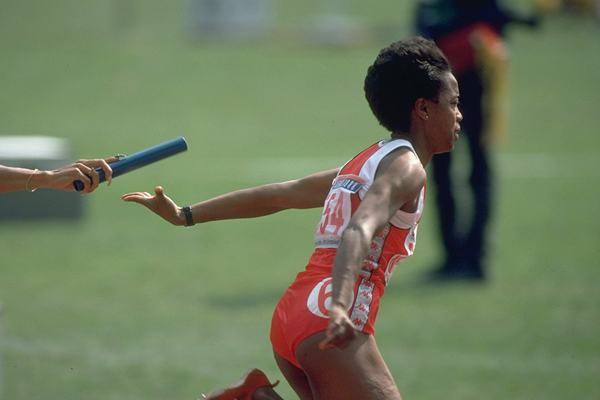 USA's Evelyn Ashford in the 4x100m at the 1988 Olympic Games in Seoul (Getty Images)