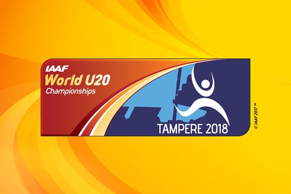 IAAF World U20 Championships Tampere 2018 logo (IAAF)