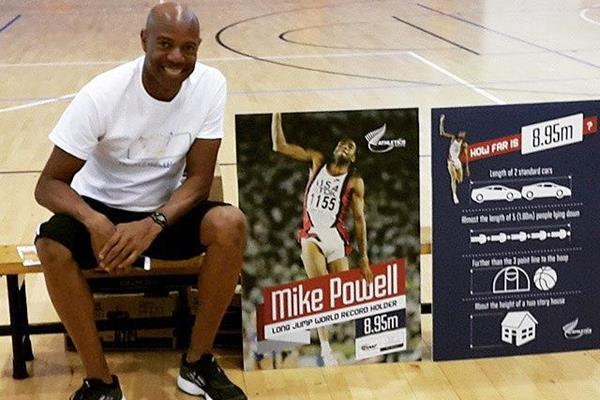 Mike Powell in New Zealand (Athletics New Zealand)
