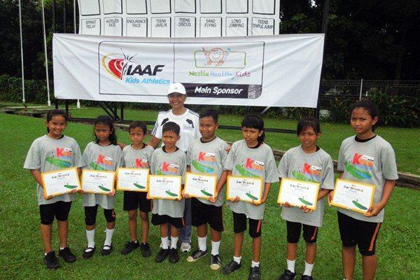 IAAF/Nestlé Kids' Athletics participants in Jakarta (RDC Jakarta)