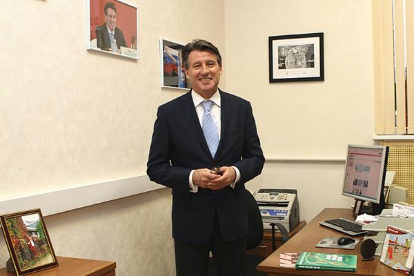 IAAF President Seb Coe at the IAAF Regional Development Centre in Moscow (ARAF)