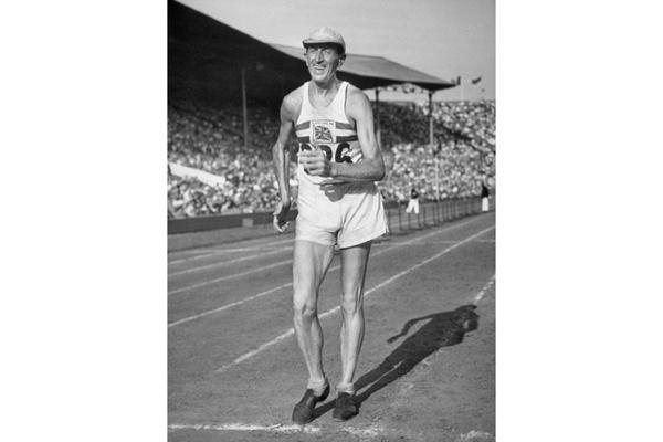 "Terence ""Tebbs"" Lloyd Johnson in the 1948 Olympics ()"