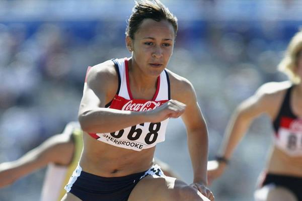 Jessica Ennis of Great Britain in the 100m Hurdles of the Heptathlon at the 2003 World Youth Championships (Getty Images)