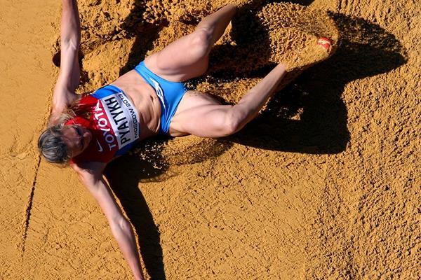 Anna Pyatykh in the womens Triple Jump qualifications at the IAAF World Championships 2013 (Getty Images)