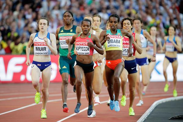 The women's 1500m semi-final at the IAAF World Championships London 2017 (Getty Images)