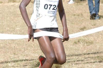 World Youth 3000m champion Mercy Cherono winning the Tuskys Wareng Cross Country junior women's race in Eldoret (David Macharia)