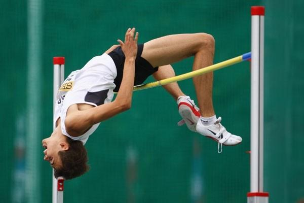Dmitriy Kroyter of Israel on his way to winning the High Jump final (Getty Images)
