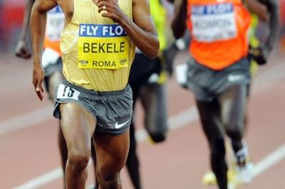 Kenenisa Bekele improves his own world-lead in the men's 5000m (Getty Images)