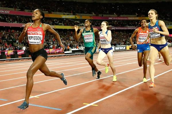 The waning metres of the women's 1500m at the IAAF World Championships London 2017 (Getty Images)