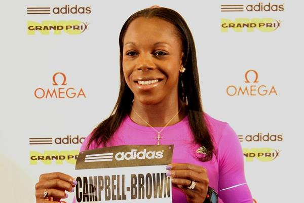 Veronica Campbell-Brown ahead of the 2013 IAAF Diamond League meeting in New York ()