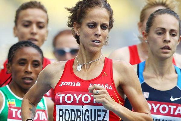 Spain's Natalia Rodriguez in the 1500m at the 2011 World Championships in Daegu (Getty Images)