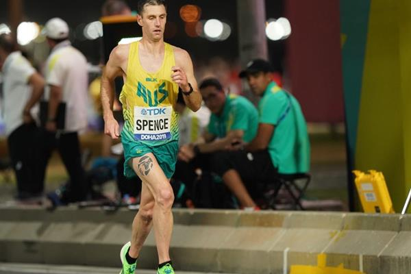 Australia's Julian Spence in the marathon at the IAAF World Athletics Championships Doha 2019 (Matthew Quine)