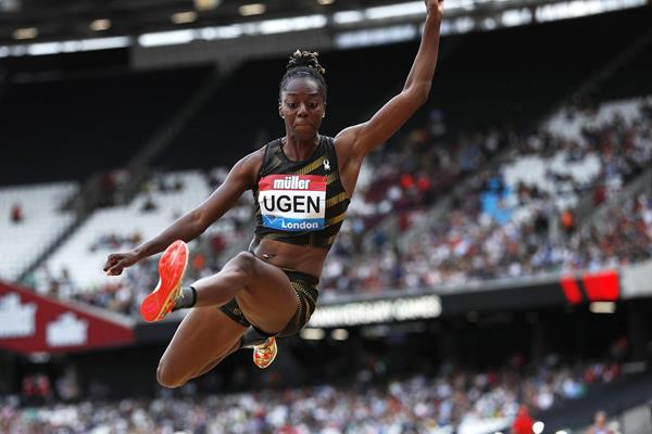 Lorraine Ugen at the IAAF Diamond League meeting in London (AFP / Getty Images)