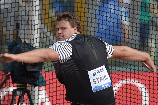 Daniel Stahl in the discus at the IAAF Diamond League meeting in Rome (AFP / Getty Images)