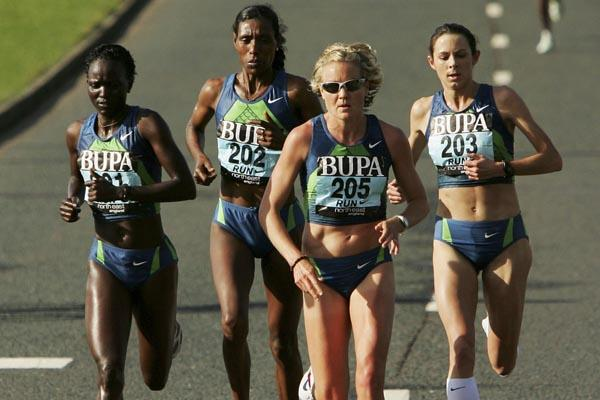 left to right: Susan Chepkemei, Berhane Adere, Benita Johnson and Jo Pavey at the Great North Run (Getty Images)