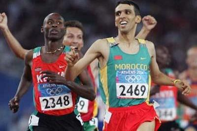 Hicham El Guerrouj wins the 1500m Olympic title in Athens (Getty Images)