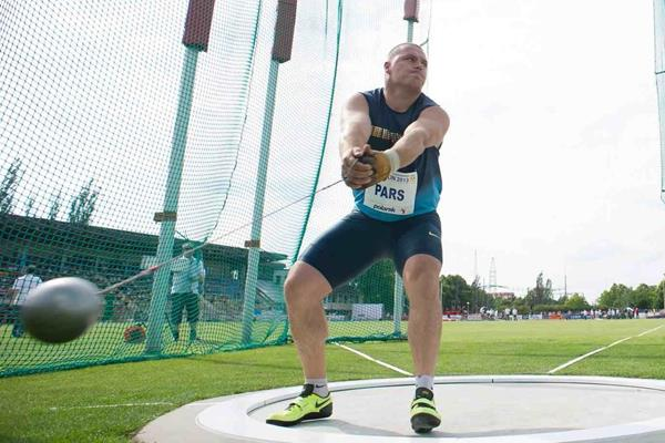 Krisztian Pars at the 2013 IAAF Hammer Throw Challenge meeting in Szczecin (Marek Biczyk)