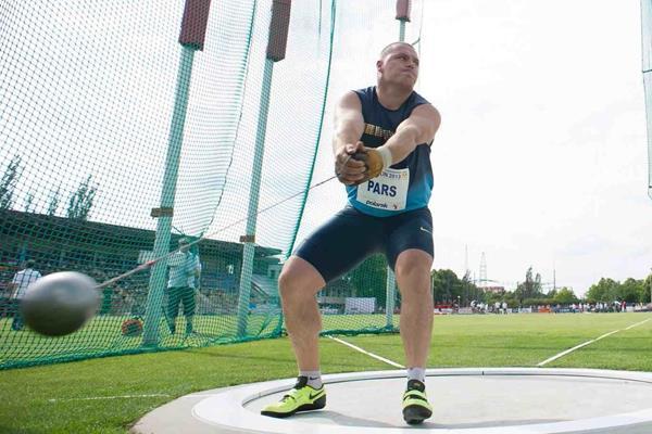 Krisztian Pars at the 2013 IAAF Hammer Throw Challenge meeting in Szczecin (Marek Biczyk)