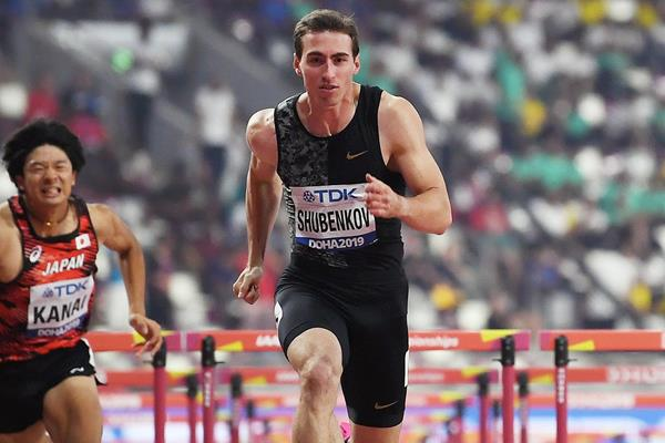 Sergey Shubenkov in the 110m hurdles at the IAAF World Athletics Championships Doha 2019 (AFP / Getty Images)