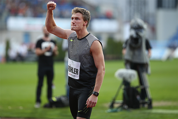 Thomas Rohler wins the javelin in Ostrava (Organisers / sport-pics.cz)