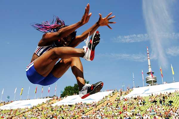 Eunice Barber (FRA) - Long Jump winner in Munich (Getty Images / Bongarts)