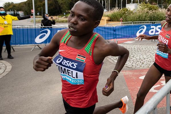 Dorcas Kimeli in action at the World Athletics Half Marathon Championships Gdynia 2020 (Dan Vernon)