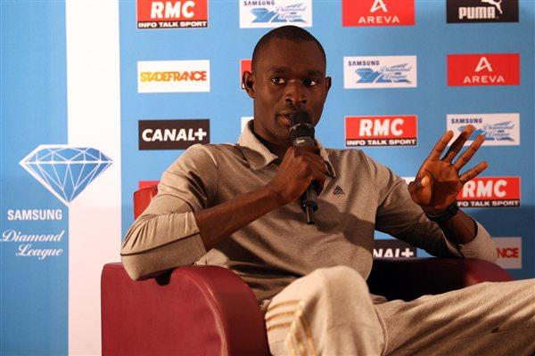 David Rudisha meets the media on the eve of the Samsung Diamond League meeting press conference in Paris (Jean-Pierre Durand)
