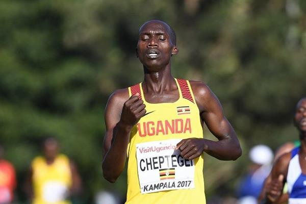 Joshua Cheptegei in the senior men's race at the IAAF World Cross Country Championships Kampala 2017 (Jiro Mochizuki)
