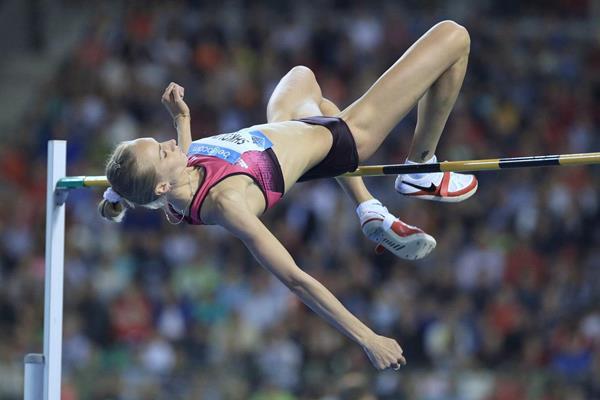 Svetlana Shkolina at the 2013 IAAF Diamond League final in Brussels (Jean-Pierre Durand / IAAF)