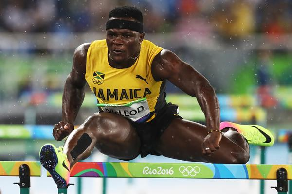 Omar McLeod in the 110m hurdles at the Rio 2016 Olympic Games (Getty Images)