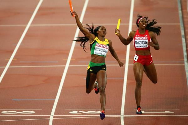Jamaica wins the 4x400m at the IAAF World Championships, Beijing 2015 (Getty Images)