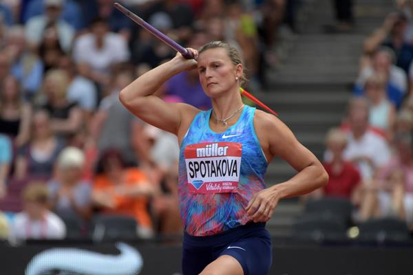 Barbora Spotakova at the London Diamond League (Kirby Lee)