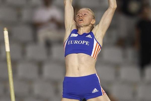 Svetlana Feofanova clears a 4.70m competitions record at the IAAF / VTB Bank Continental Cup in Split (Getty Images)