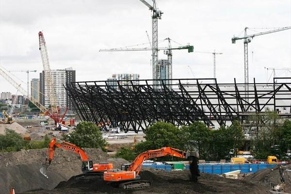 Construction at London's Olympic Stadium site (Getty Images)